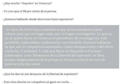 Esto decía Rubén Espinosa sobre el periodismo en Veracruz.