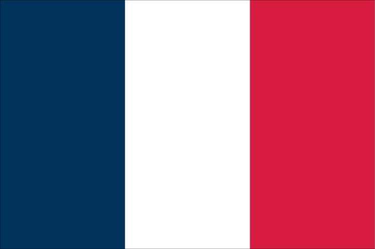 Bandera de Francia en solidaridad a los ataques terroristas.